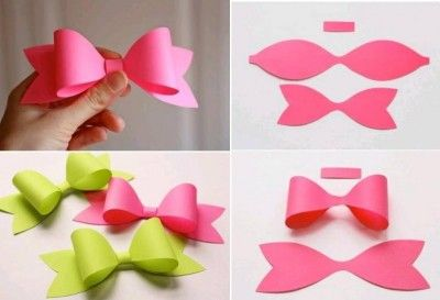 How To Make Paper Craft Bow Tie Step By DIY Tutorial Instructions