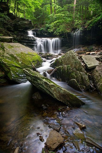 Angled Rock -- Ricketts Glen State Park, Pennsylvania