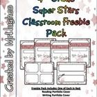 This freebie pack lets you sample what you will get in the full 4th Grade Super Stars Classroom Pack.    In the pack, you will get (in Red):  Reading Portfolio Cover  Writing Portfolio Cover  Reading Journal Cover  Writing Journal Cover  Name Plates  Shelf Tags    These are perfect for this coming year, especially if you are doing a star theme.