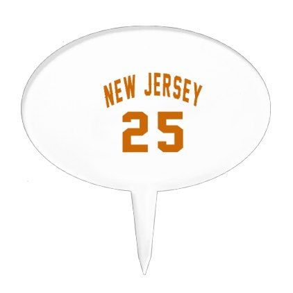 #New Jersey  25 Birthday Designs Cake Topper - #birthday #gift #present #giftidea #idea #gifts