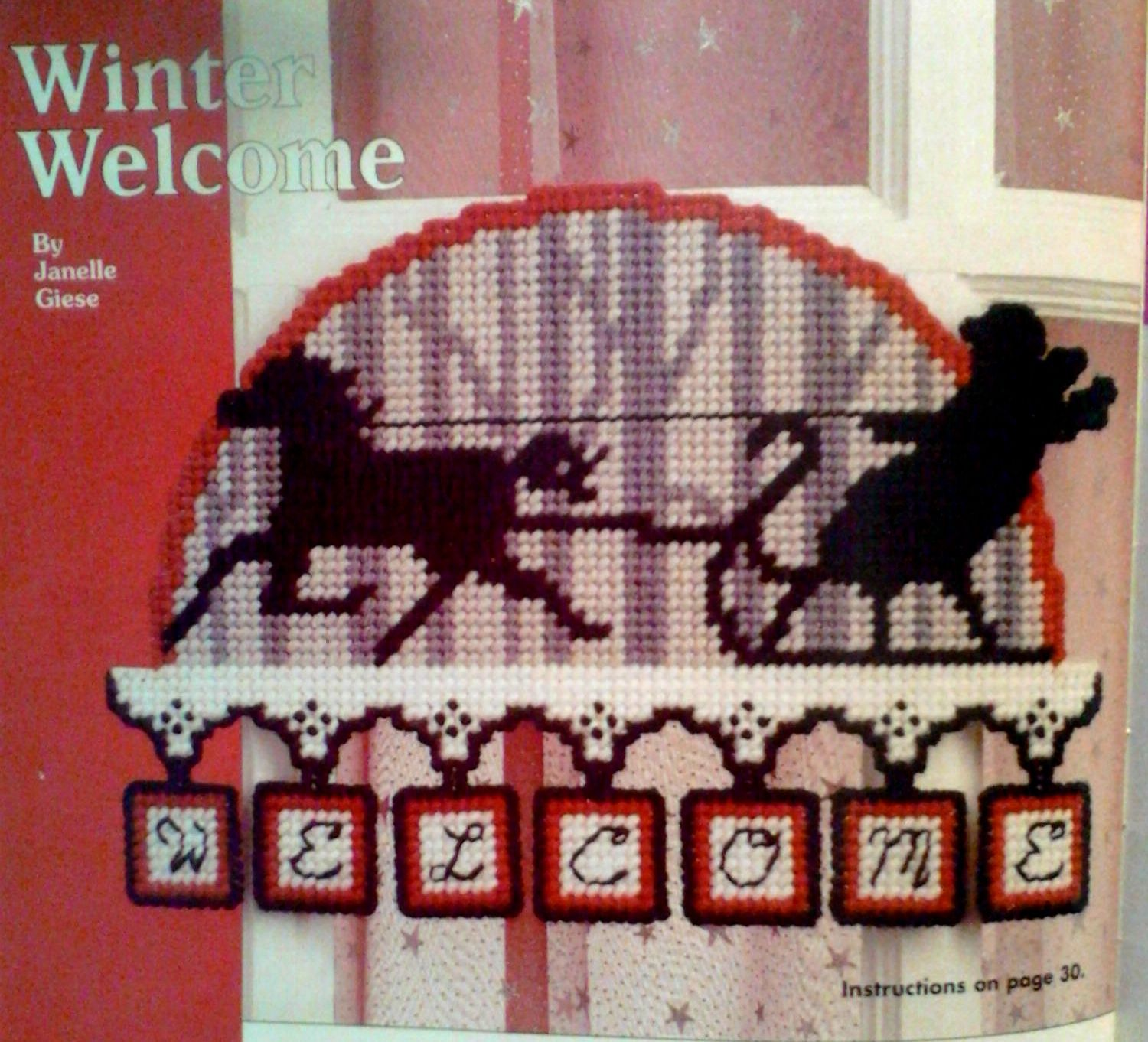 Winter welcome plastic canvas 1-2
