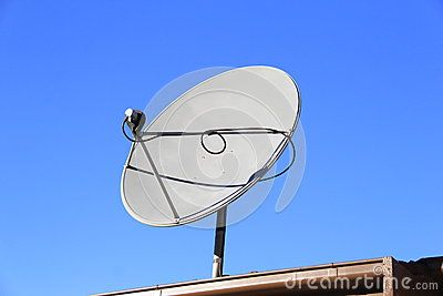 Small Round Dish Antenna On House Top For Television Broadcast Reception Satellite Dish Antenna Satellite Dish Antenna