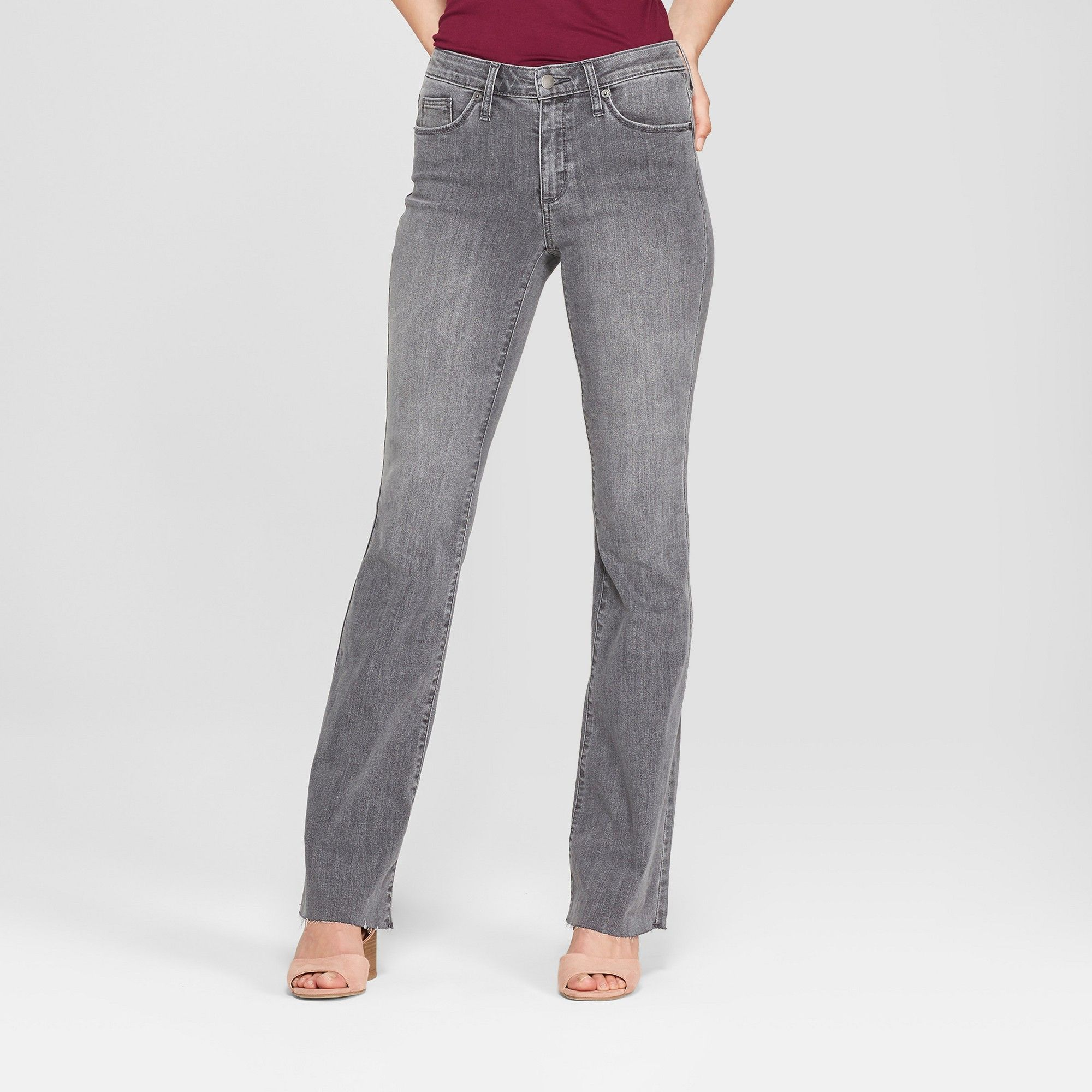 efa36815dc3 Women s High-Rise Flare Jeans - Universal Thread Gray Wash 16 Short ...