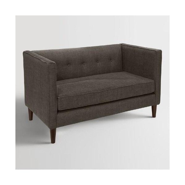 Cost Plus World Market Textured Anwen Upholstered Loveseat 1 000 Liked On Polyvore Featuring
