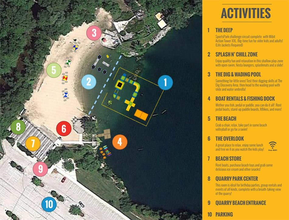 Quarry Beach Adventure Park And Water Sports In Sheboygan