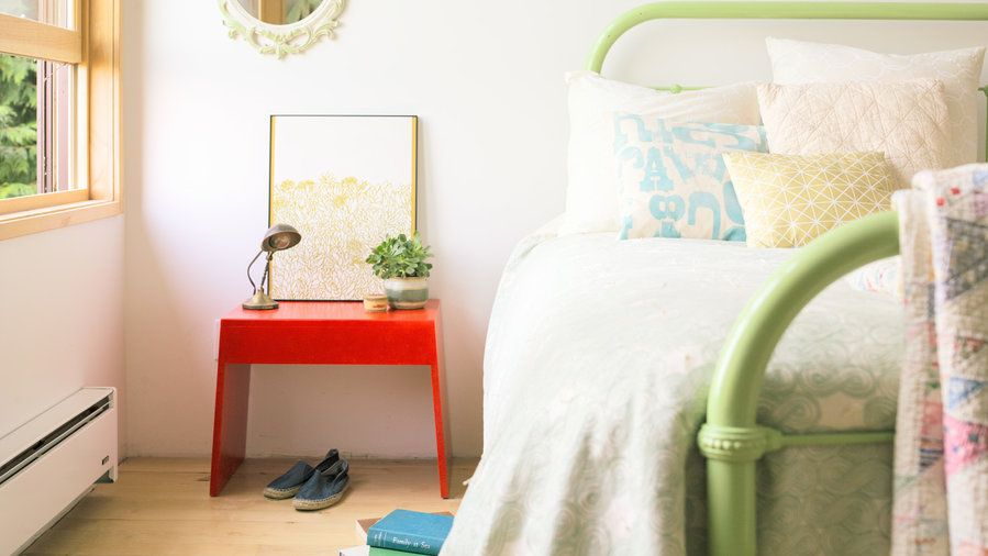 Light, bright bed | Dream in color with inspiration from our favorite bright bedrooms