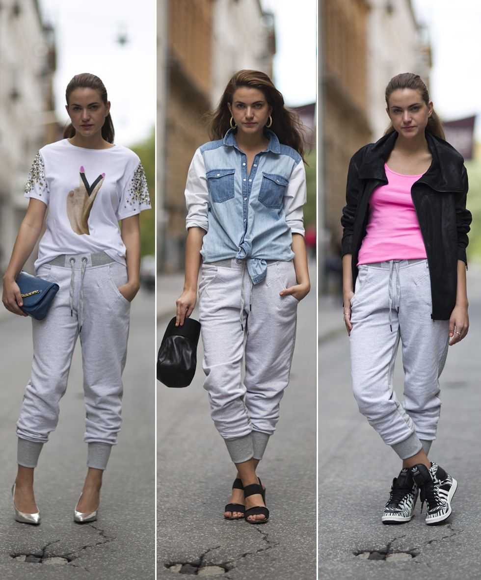 what to wear with track pants