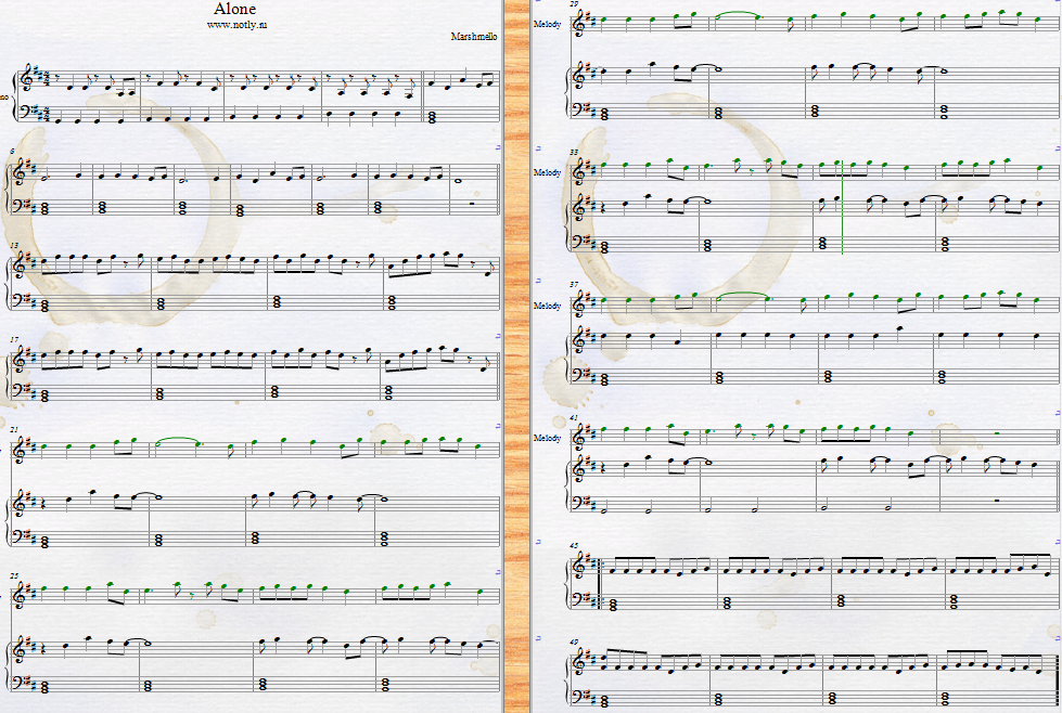 Marshmello — Alone, Ritual, Summer Piano Sheets