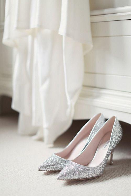 Hallelujah Weddings Glitter Wedding Shoes Bride Shoes Glitter Heels