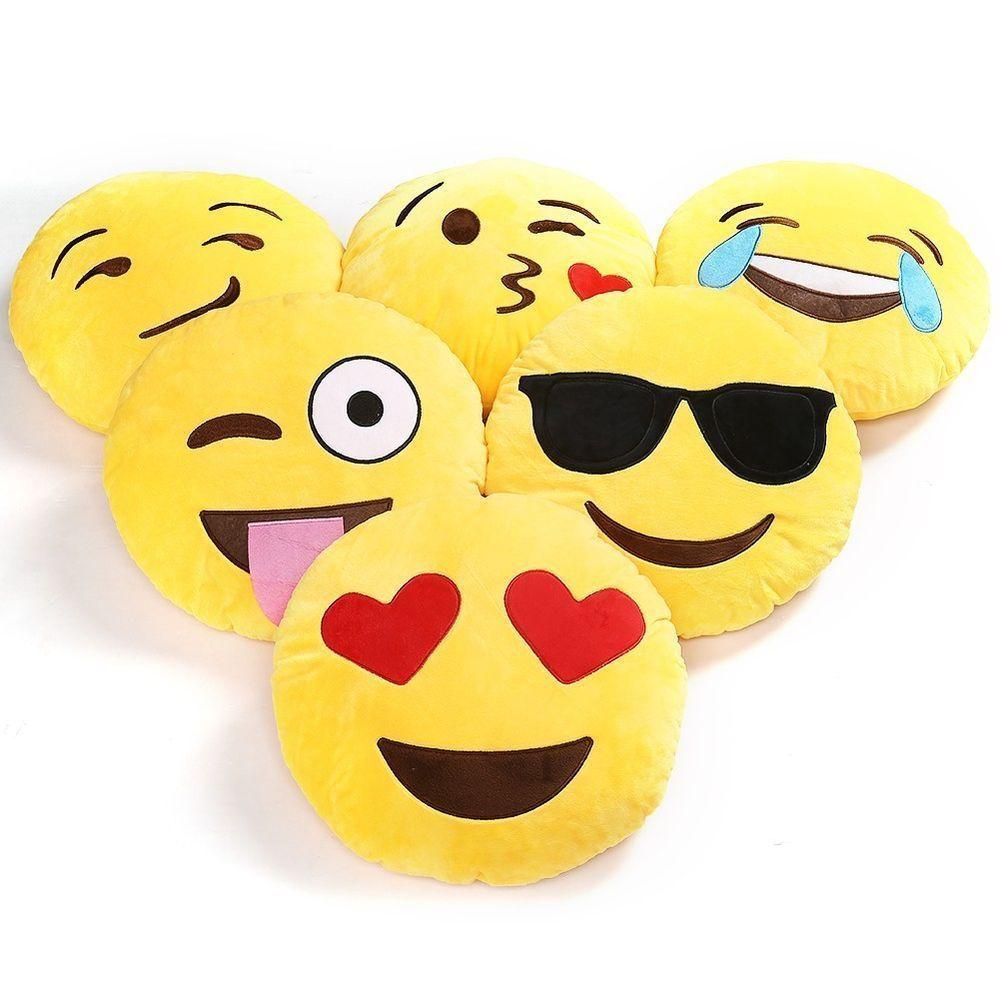 Mini Mignon Emoji Emoticon Cushion Decorative Pillow Stuffed Doll Toy Throw Pillow