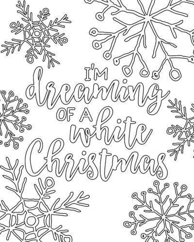 Free Printable White Christmas Adult Coloring Pages With Images