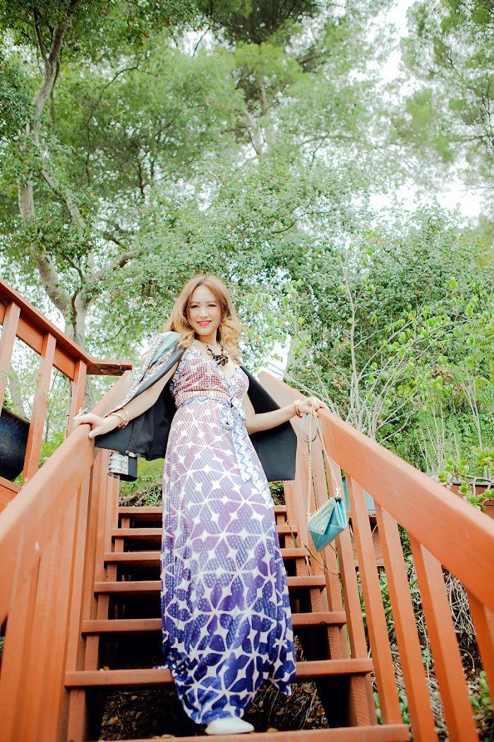 Diane von Furstenberg Blue Samson Maxi Dress