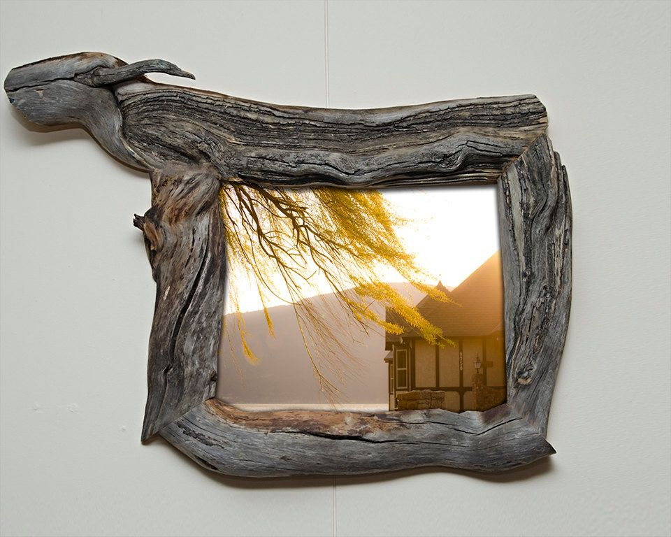 8x10 Canadian Driftwood Picture Frame With Glass Picture