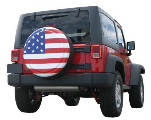 Amazon Com 30 American Flag Spare Tire Cover Molded Plastic