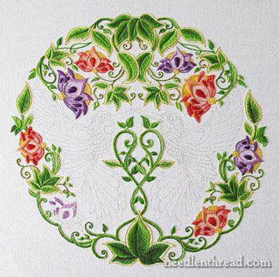 Secret Garden Embroidery - the Flowers via Mary Corbet on http://www.needlenthread.com/