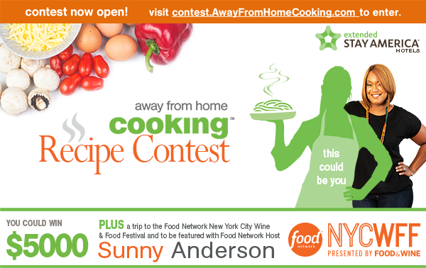 Enter our first ever extended stay america away from home cooking enter our first ever extended stay america away from home cooking contest forumfinder Image collections