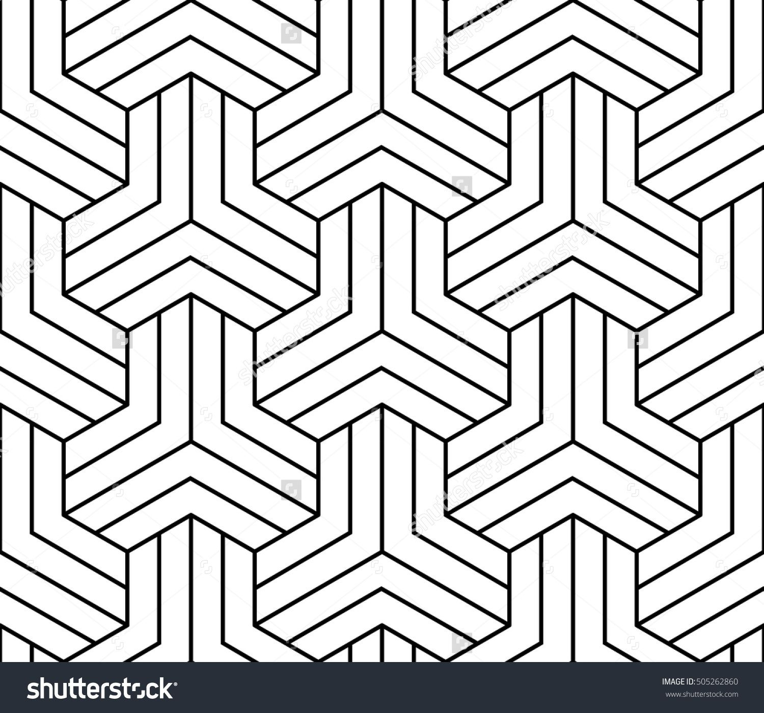 Abstract geometric illusion black and white graphic design print pattern