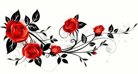 O 37918 Jpg 449 240 Rose Flower Tattoos Rose Vine Tattoos Red Roses