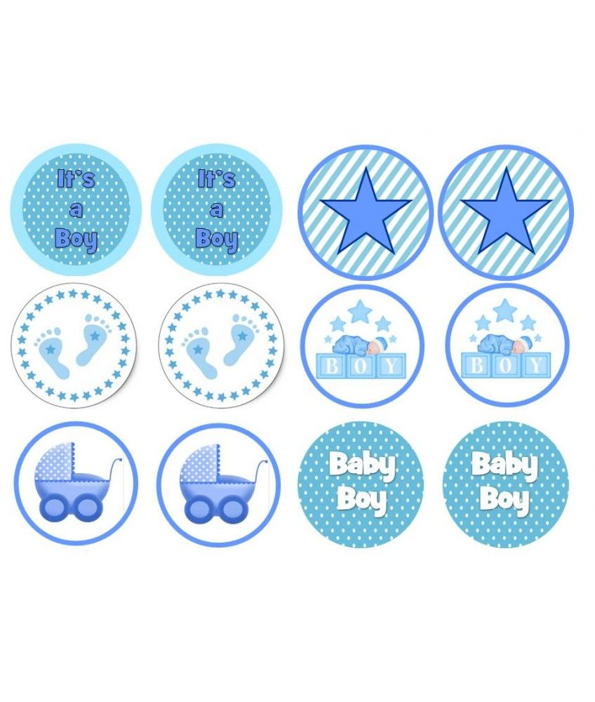 Baby boy cupcake toppers google search baby shower boy for Baby shower cupcake picks decoration