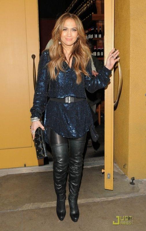Celebrity Fashion Anaconda Jennifer Lopez And Knee Boot