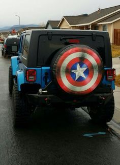 Image Result For Captain America Jeep Tire Cover