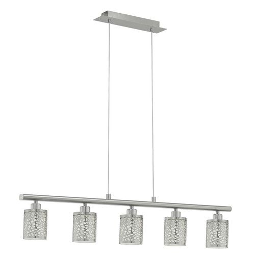 Almera 1 mesh 5 light pendant in nickel matt by eglo get it now or find more tiffany emporium ceiling fixtures at temple webster