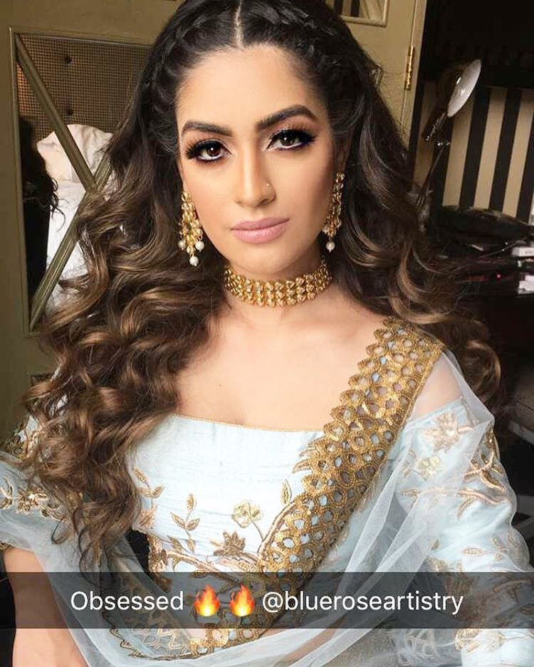 Mehndi Hairstyles Curls : Likes comments by sohal grewal hmua