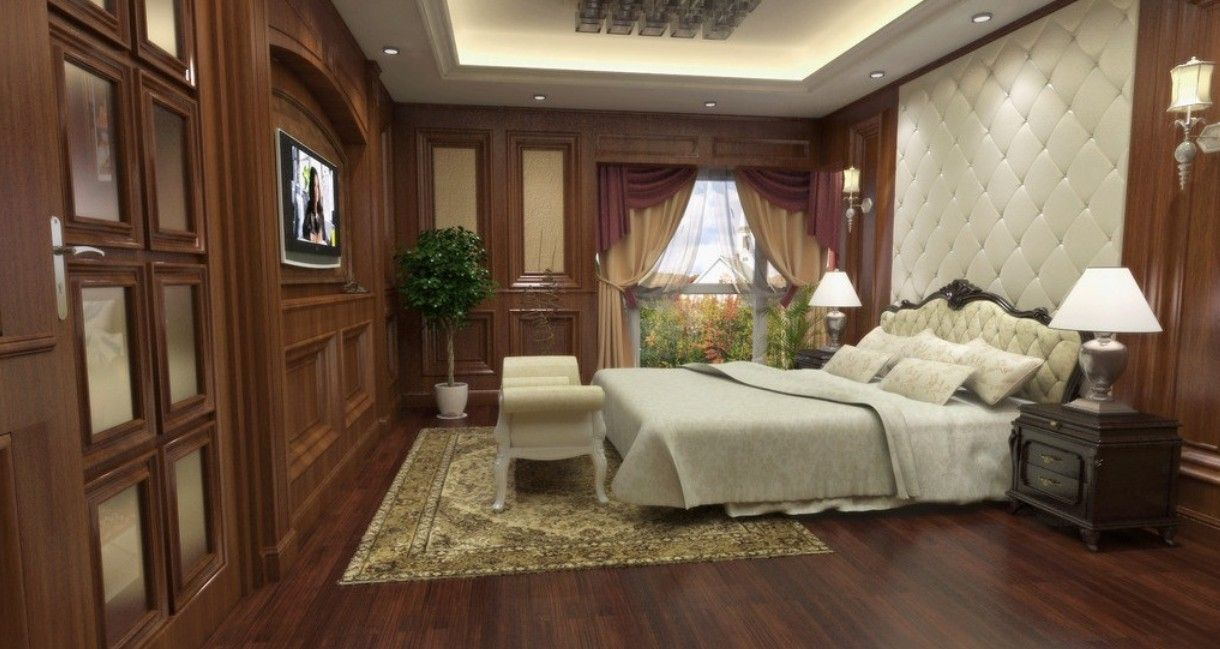 Wonderful Decorate Bedroom Cork Parquet Flooring Design Ideas With Charming And Luxury Rug