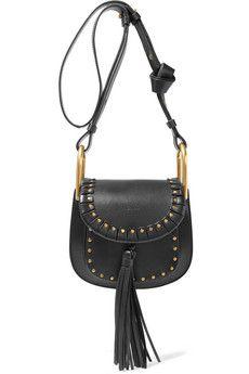f633d10c413c Chloé - Hudson mini studded textured-leather shoulder bag