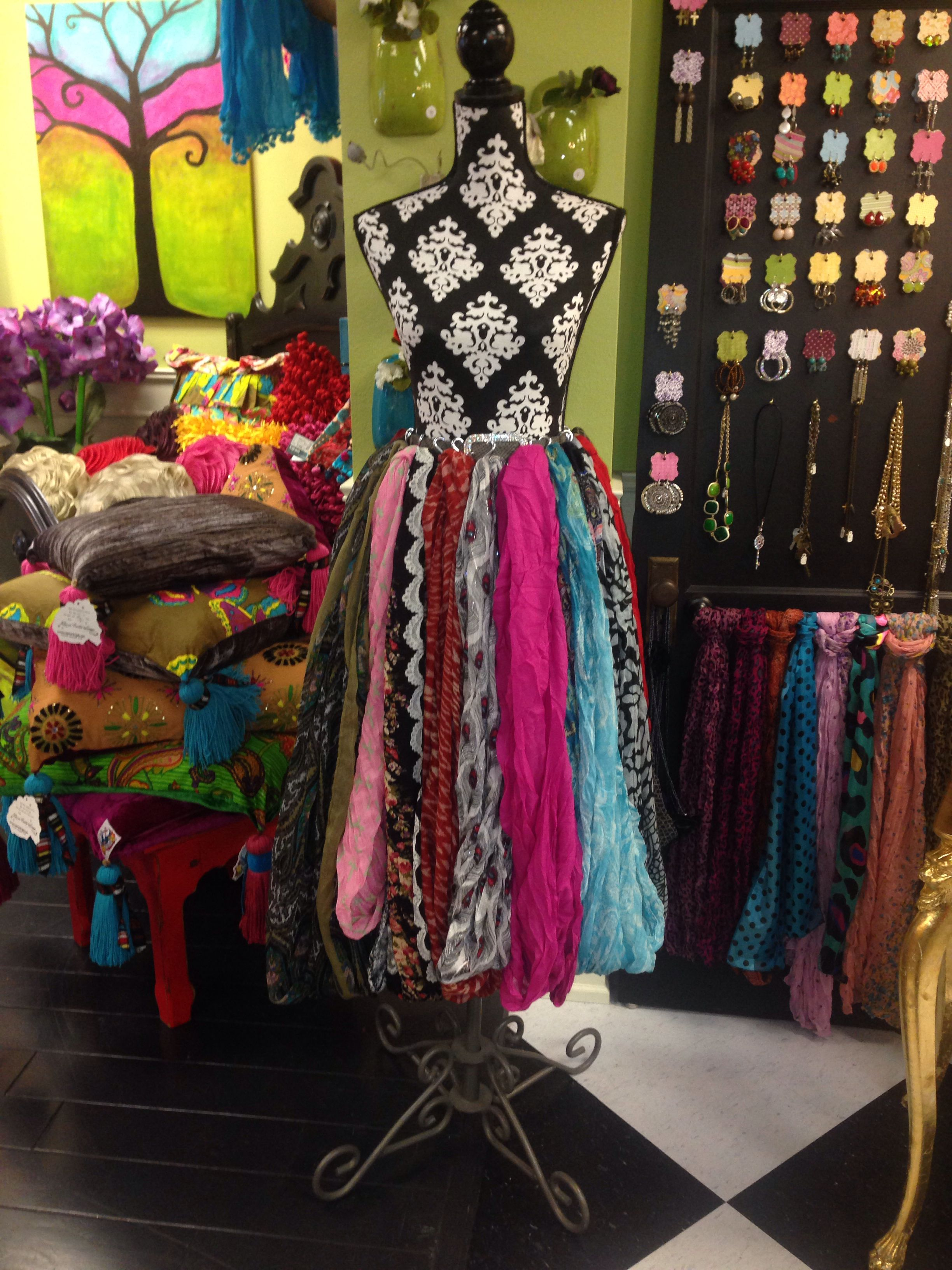 Pin By Missy Kaza On Posh Alley Boutique Scarf Display Clothing Displays