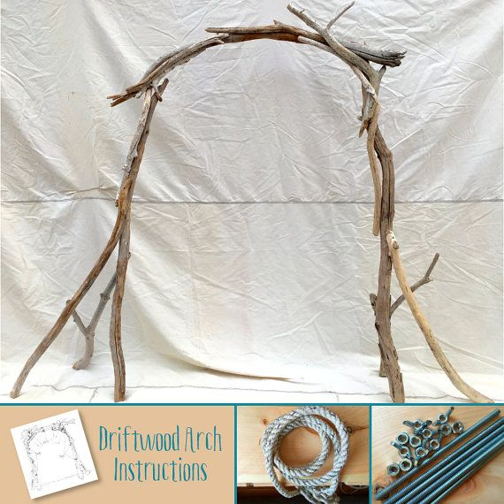Driftwood Wedding Arch Kit Beach By SaltyGirlandLongDog