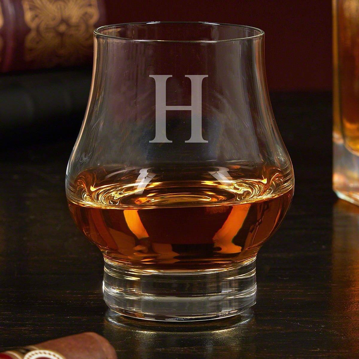 Photo of Personalized Wescott Double Snifter Bourbon Tasting Glass