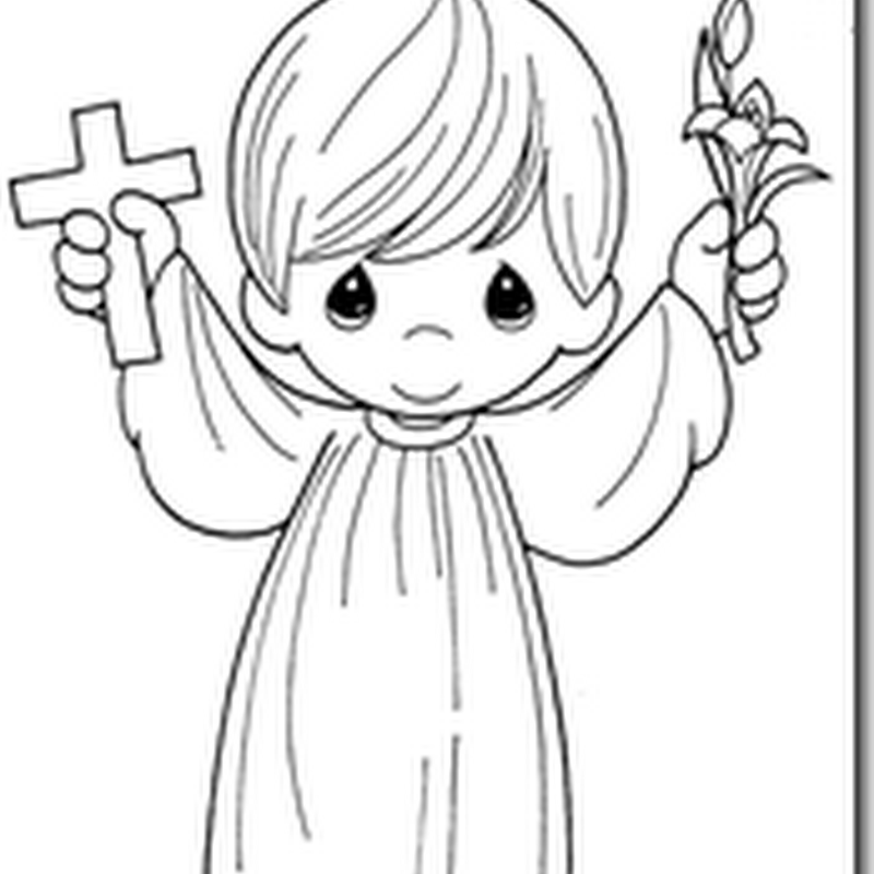 Angel in a gift precious moments coloring pages Coloring Pages