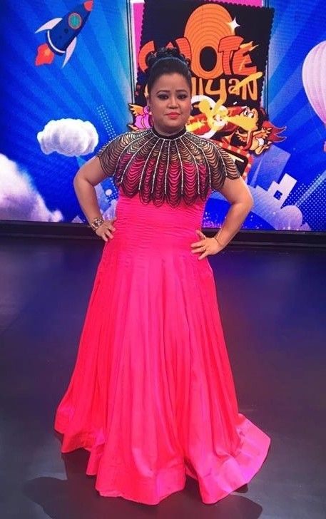 Bharti Singh In Western Gown With Poncho Gowns For Girls Indian Gowns Plus Size Gowns
