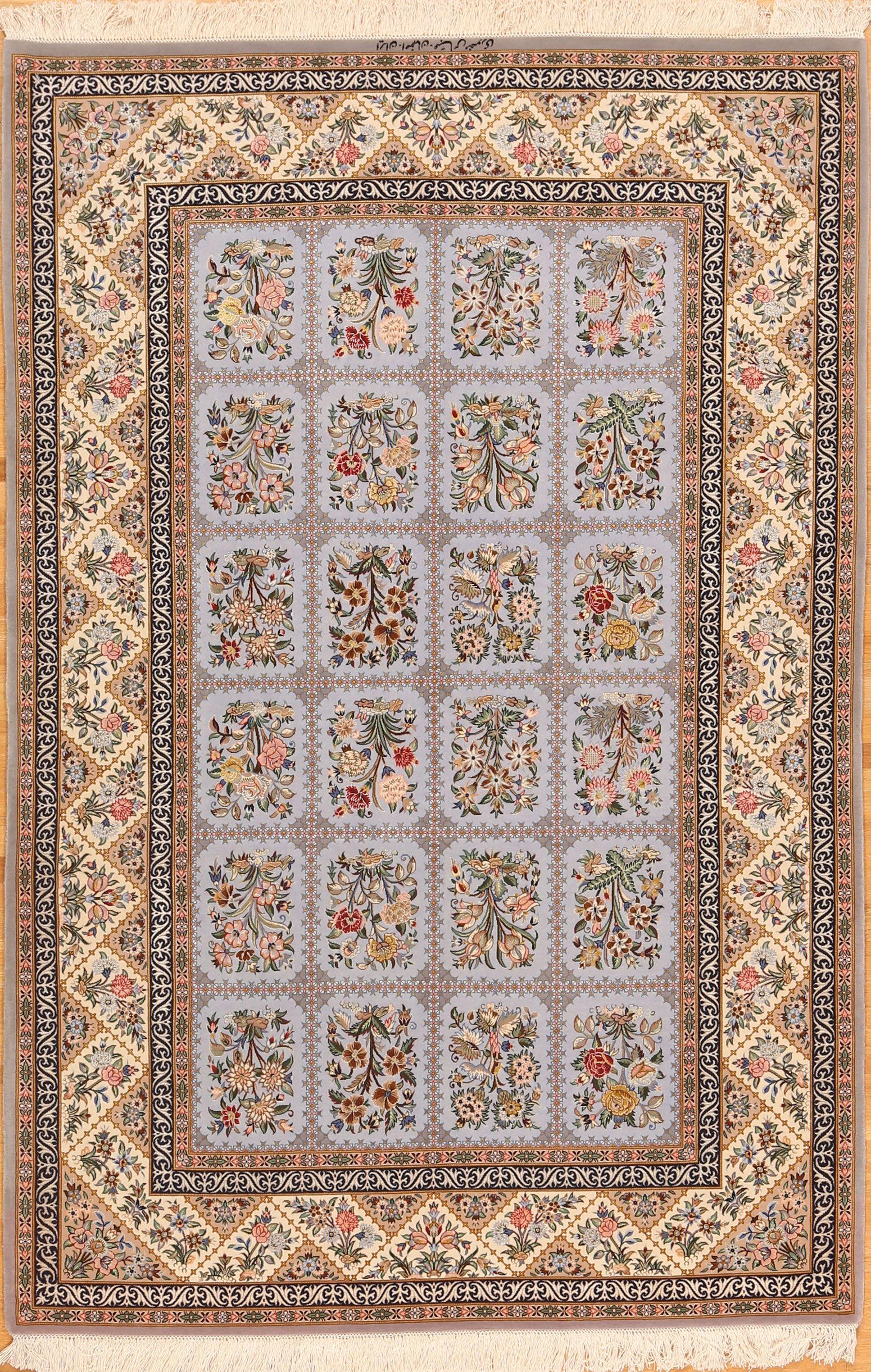 Wool And Silk Persian Isfahan Rugs Www Zaki Com