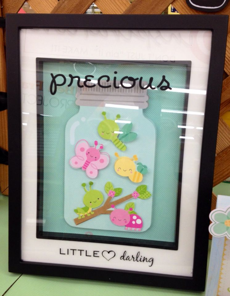 This project was made in a 8x10 shadow box frame. Using 2-12x12 ...