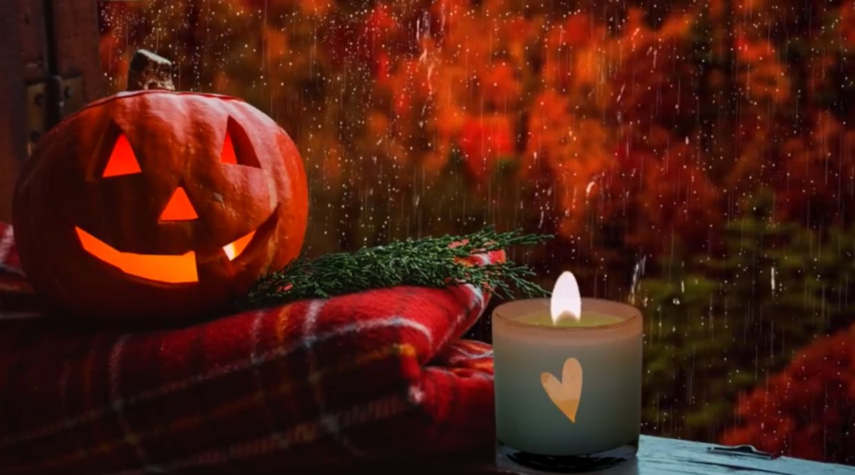 Pin By Franchessca Pratt On A8 Seasons Fall Holidays In 2020 Autumn Rain Halloween Screen Savers Fall Halloween Crafts