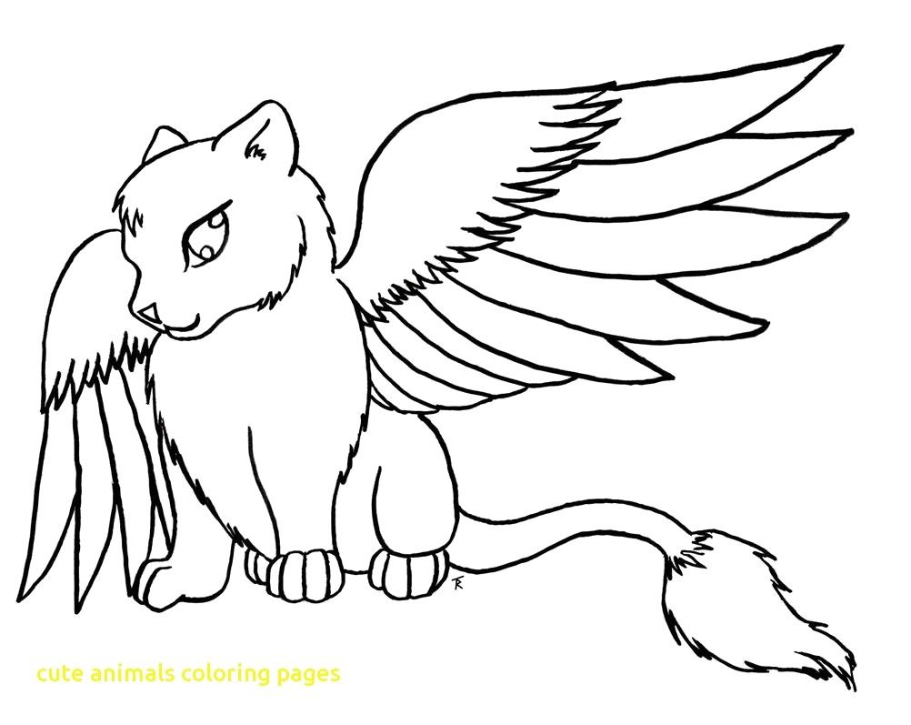 Animals Coloring Pages Cute With Anime Many Readgyan Online Free Animal Coloring Pages Kittens Coloring Cat Coloring Page