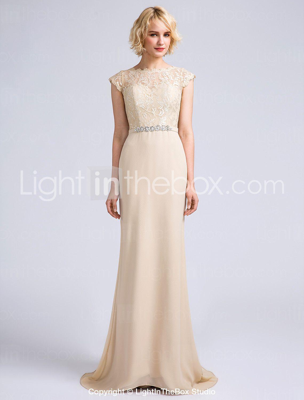 Mermaid trumpet jewel neck sweep brush train chiffon bridesmaid dresses online ombrellifo Images