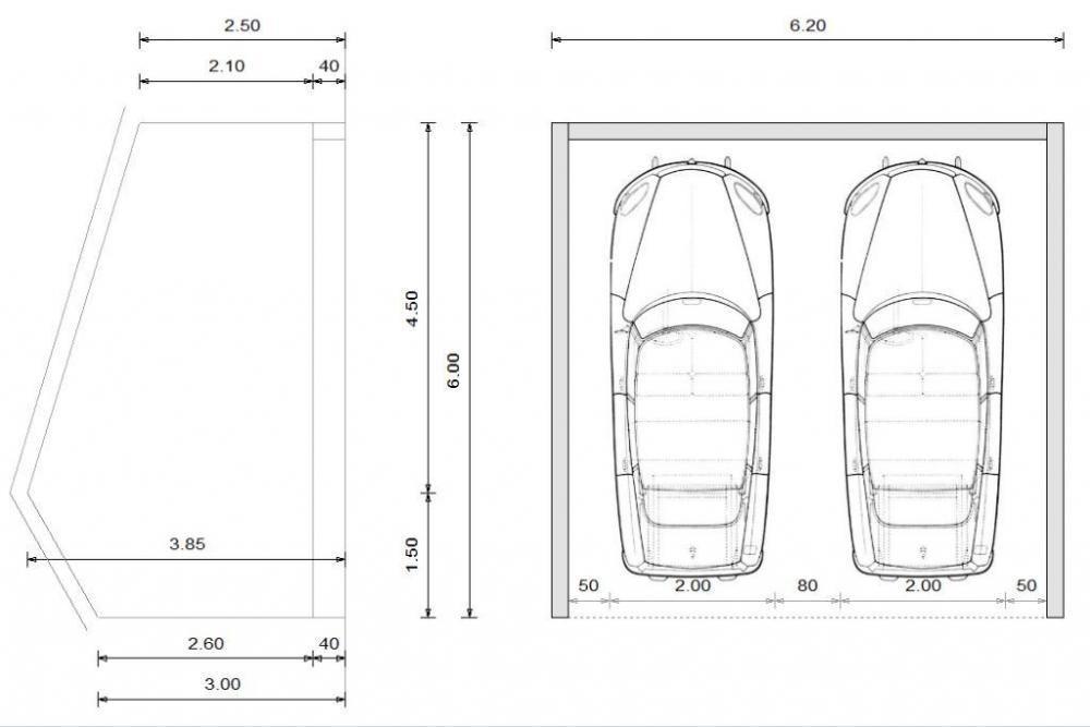 Plan De Garage Pour 2 Voitures Maison Francois Fabie Plan Garage Construction Garage Garage