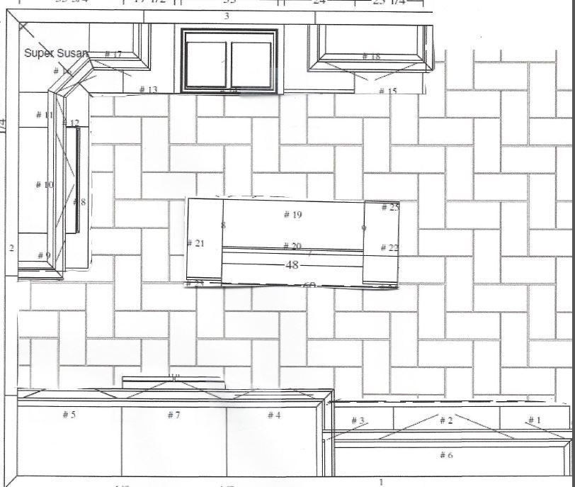 Which Direction For Rectangular Floor Tiles Patterned Kitchen