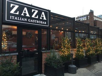 Roll A Coveru0027s Retractable Glass Room On The Patio At ZAZA Italian  Gastrobar U0026