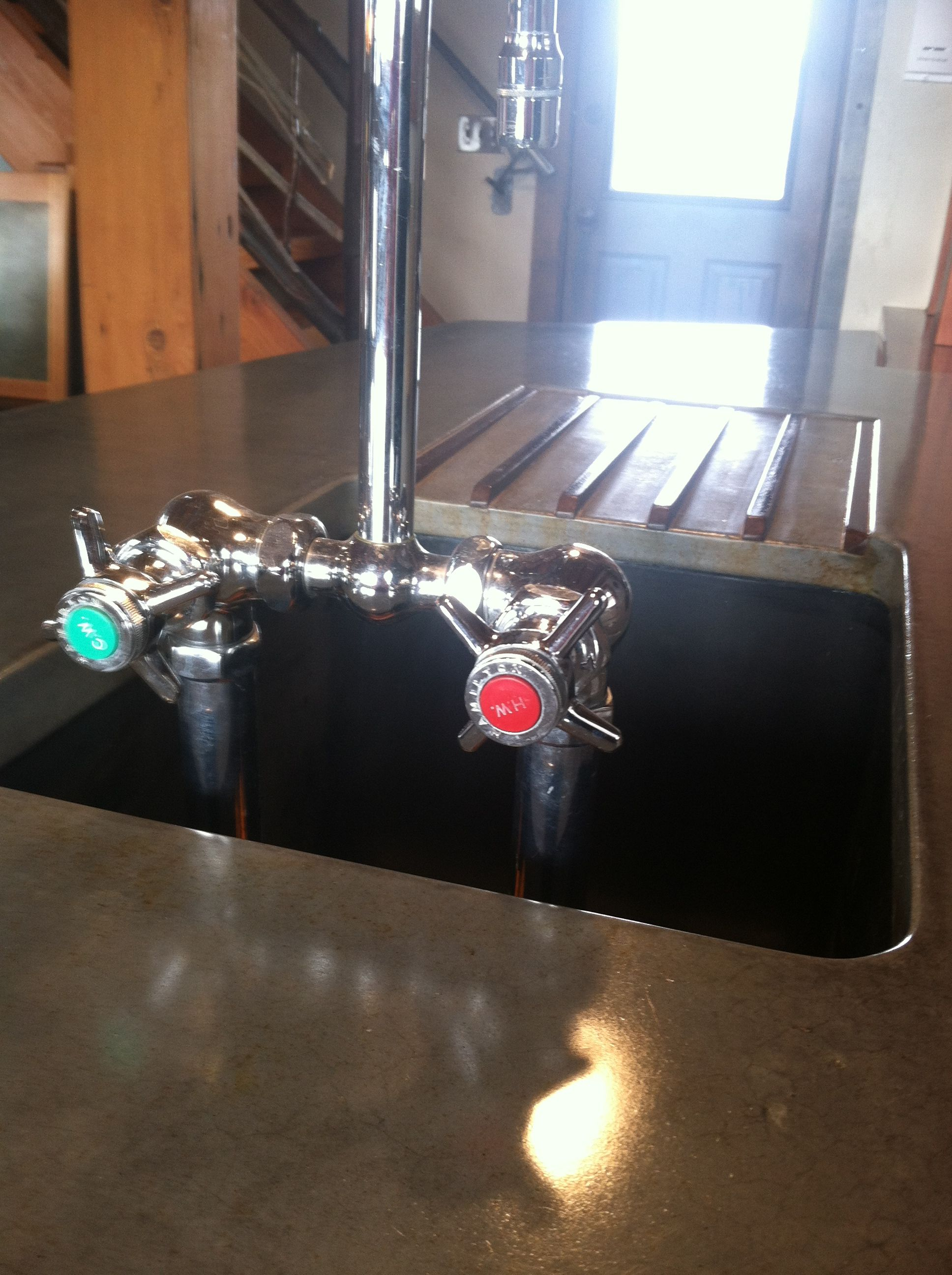 Soapstone sink, reclaimed with the faucet hardware from the MSU ...