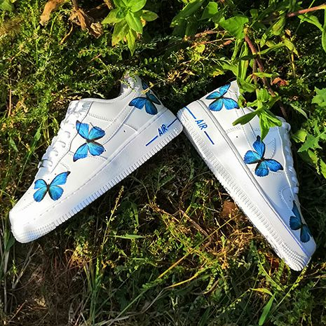 Blue Butterfly AF1   Dripcreationz