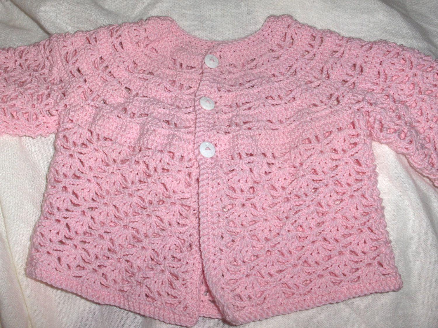 Baby jacket, new crochet baby jacket, handmade jacket, baby girl ...