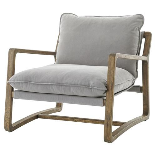 Antonia Rustic Lodge Grey Pillow Brown Wood Living Room Arm Chair Mesmerizing Wooden Living Room Chairs Design Decoration