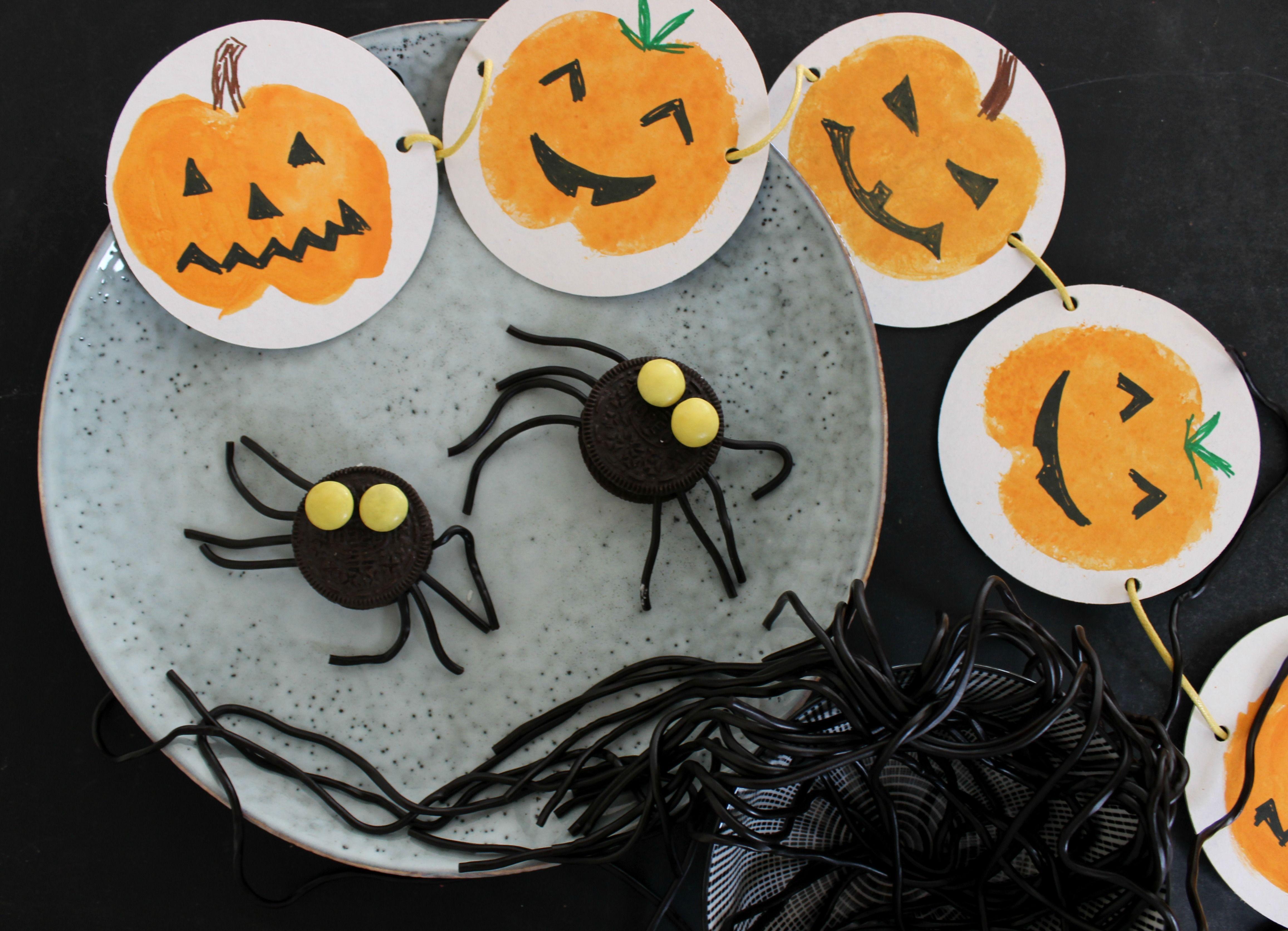 ideen f r halloween dekoration und food girlande. Black Bedroom Furniture Sets. Home Design Ideas