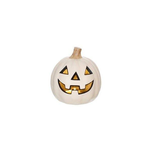 Halloween Classic Lit Pumpkin White 5\ - halloween lighted decorations