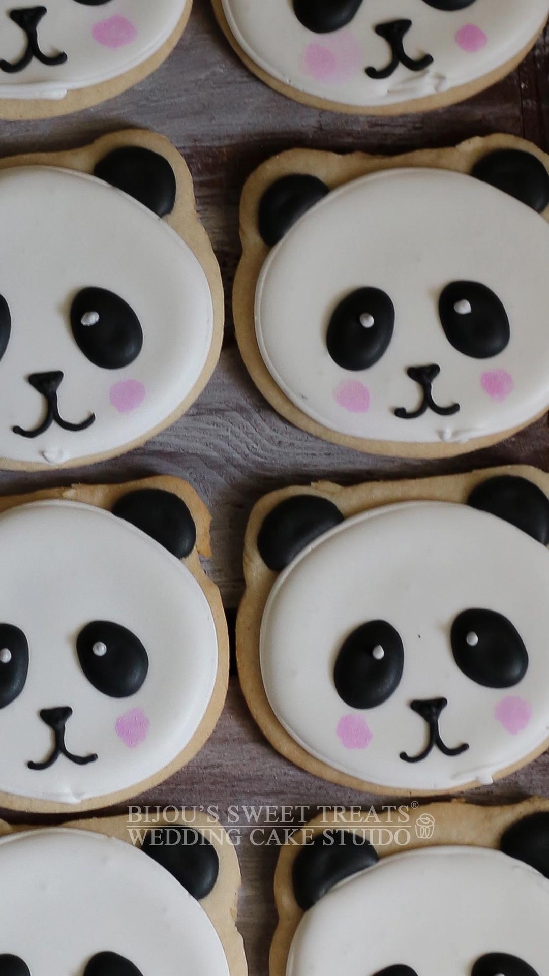 Panda Cookie Favors by Bijous Sweet Treats wedding cake studio