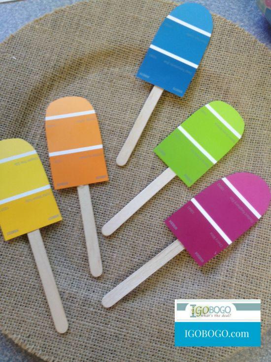 paint popsicles